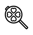 waffle-iron kitchen outline icon vector image