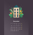 wall calendar page 2021 one month vector image vector image