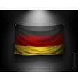 waving flag germany on a dark wall vector image vector image