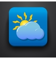 Weather symbol icon on blue vector image vector image