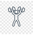 weightlifter concept linear icon isolated on vector image vector image
