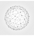 Wireframe mesh ball vector image vector image