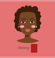 woman face type oblong vector image vector image