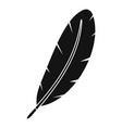 feather pen icon simple vector image