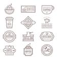 Coffee monogram icon vector image