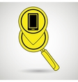 search pin app vector image