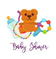 baby shower greeting card for boy girl birth vector image