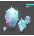 abstract crystal blue vector image vector image