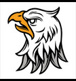 angry eagle head vintage tattoo concept vector image