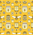 beekeeping seamless pattern yellow color vector image