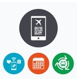 Boarding pass flight sign icon Airport ticket vector image vector image
