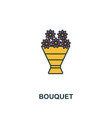 bouquet icon creative 2 colors design frombouquet vector image vector image