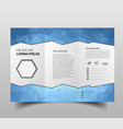 brochure design template polygonal tri-fold vector image