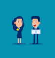 business person and job salary concept finance vector image