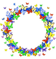 butterfly border vector image vector image