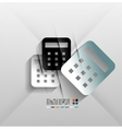 Calculator icon 3d paper design vector image