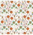 children seamless pattern of wild flowers vector image