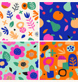 colorful seamless pattern in paper cutout style vector image vector image