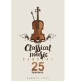 concert of classical music vector image vector image