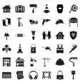 construction site icons set simple style vector image vector image