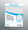Creative business flyer design - light blue vector image vector image