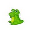 crocodile characters surprised or sad expression vector image vector image