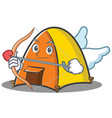 cupid tent character cartoon style vector image