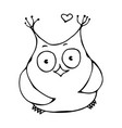 Cute funny happy cheerful owl bird isolated on a