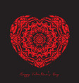 decorative heart background for valentines day vector image vector image