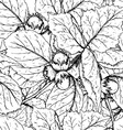 Decorative seamless pattern with hazelnuts and vector image