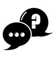 dialog icon simple black style vector image vector image