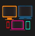 digital devices neon color vector image