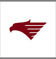 eagle head logos template vector image vector image