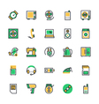 Electronics Icons 2 vector image vector image