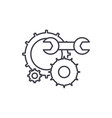 engineering support line icon concept engineering vector image vector image