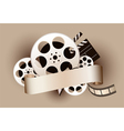 film reel with baner vector image vector image