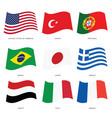 flags of countries set vector image