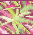 floral pattern palm tree leaves summer seamless vector image vector image
