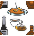 food and drink austrian cuisine and beverages vector image vector image