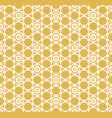 geometric ornament with hexagonal grid lattice vector image