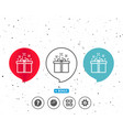 gift box line icon present sign vector image