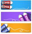 Gumshoes Banner Set vector image
