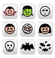 Halloween characters - Dracula monster mummy but vector image vector image