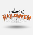 halloween text for halloween card vector image vector image