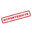 Hypertensive Rubber Stamp vector image vector image