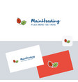 leafs logotype with business card template vector image vector image