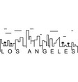 los angeles outline icon can be used for web logo vector image