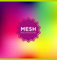 mesh background in rainbow color palette vector image vector image