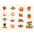 Mexican food icons menu elements for restaurant vector image vector image