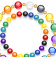 necklace of multicolored beads vector image vector image